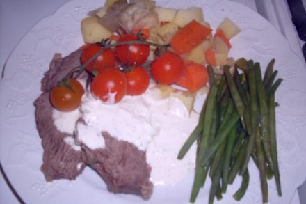 Tafelspitz mit Bouillonkartoffeln und Grünen Bohnen - Rezept
