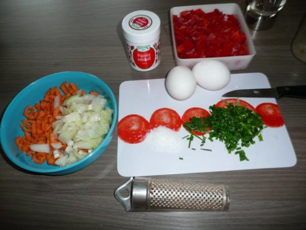 Hackbraten , Blumenkohl - Kartoffel - Gratin - Rezept