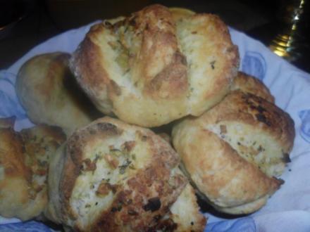 Weiche Knoblauchbrötchen - Rezept