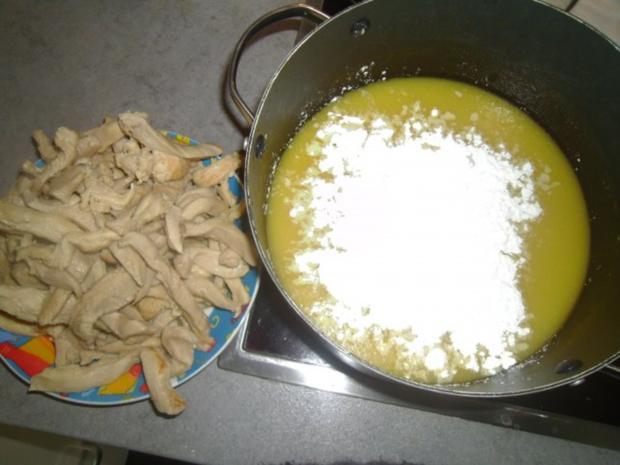 Hühnerstreifen in leichter Buttersoße - Rezept - Bild Nr. 6
