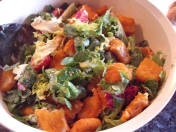 Fischstäbchen-Salat - Rezept