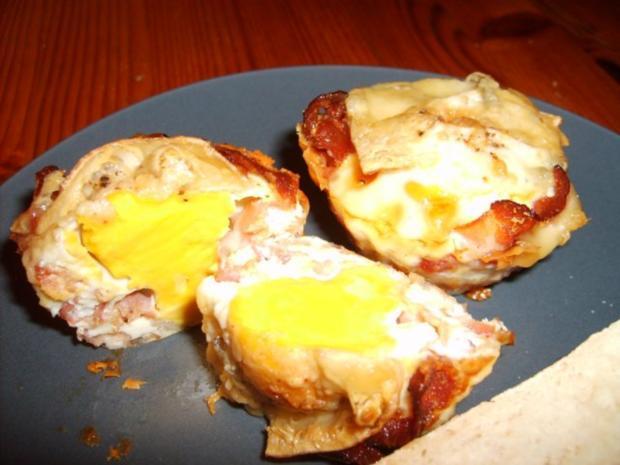 Muffin-Ei mit Bacon - Rezept - Bild Nr. 2
