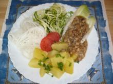 Lupinen Haschee mit Pilzen, Kartoffeln und frischem Gemüse - Rezept