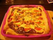 Tomaten - Frischkäse - Quiche - Rezept