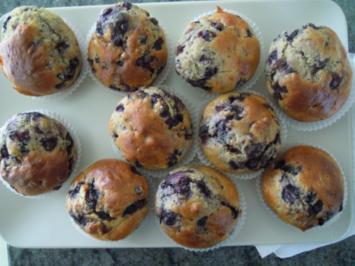 Köstliche Blaubeermuffins - Rezept