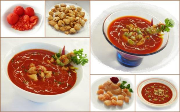Tomaten-Chili-Suppe mit Hähnchenfleisch und Avocado - Rezept - Bild Nr. 3