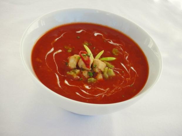 Tomaten-Chili-Suppe mit Hähnchenfleisch und Avocado - Rezept - Bild Nr. 11