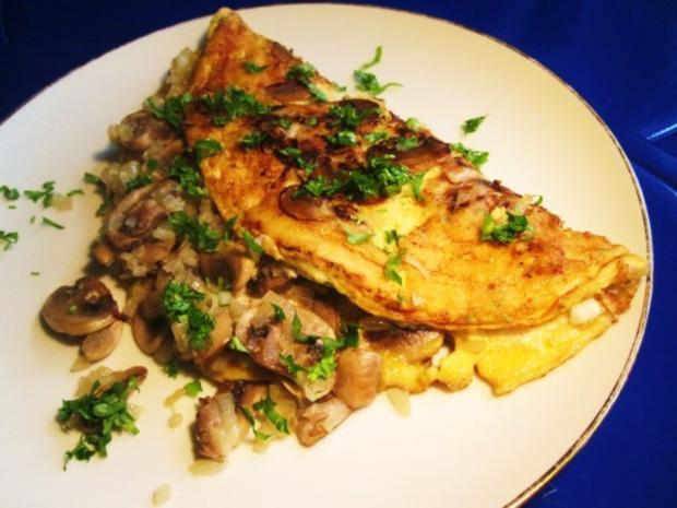 Champignon-Omelett ... - Rezept - Bild Nr. 7