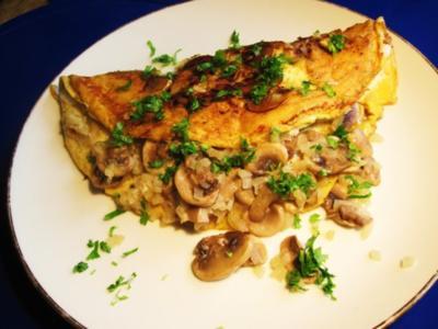 Champignon-Omelett ... - Rezept