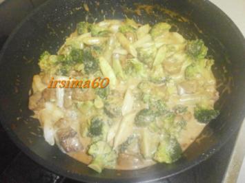 Feines Kalbs-Ragout mit Spargel und Brokkoli - Rezept