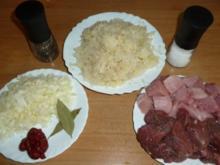Sauerkraut-Gulasch - Rezept
