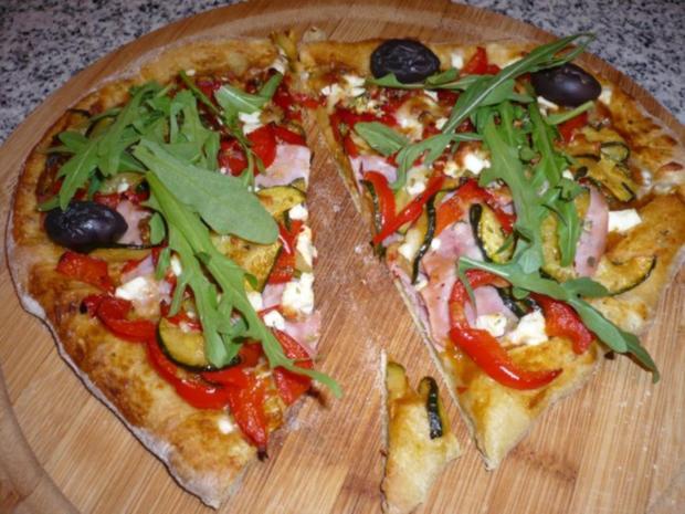 Hefefreie Pizza mit saftigem Schafskäserand (histaminfrei) - Rezept - Bild Nr. 8