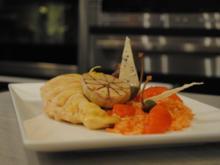 confiertes Kräuterhuhn / Risotto al' arrabiata / Vanille-Tomaten - Rezept