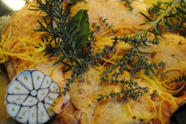 confiertes Kräuterhuhn / Risotto al' arrabiata / Vanille-Tomaten - Rezept - Bild Nr. 5