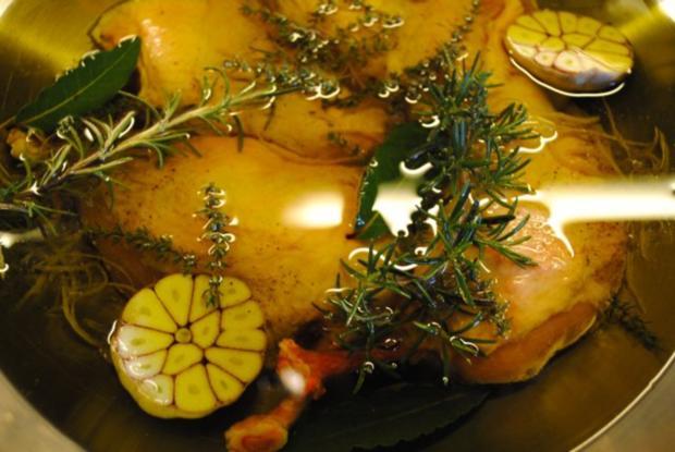 confiertes Kräuterhuhn / Risotto al' arrabiata / Vanille-Tomaten - Rezept - Bild Nr. 6