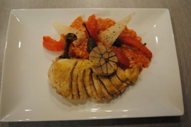 confiertes Kräuterhuhn / Risotto al' arrabiata / Vanille-Tomaten - Rezept - Bild Nr. 16