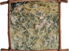 Spaghetti mit Lachs + Spinat - Rezept