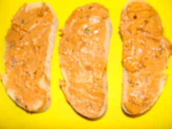 Brotaufstrich : Opito's Tomatencreme,  Olivencreme. - Rezept