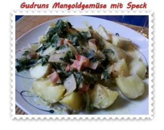 Gemüse: Mangoldgemüse mit Speck - Rezept