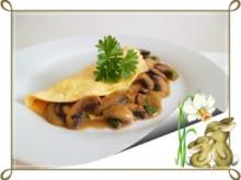 ❀Einladung zum Osterfrühstück ❀ Omelett gefüllt mit Champignons - Rezept