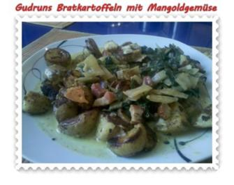 Kartoffeln: Bratkartoffeln mit Mangoldgemüse - Rezept