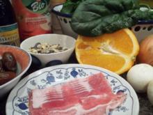 Marion's Spinat-Salat mit Datteln im Bacon-Mantel - Rezept