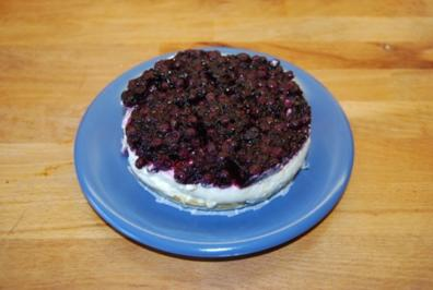 Cheesecake mit Sourcreame & Blueberries - Rezept