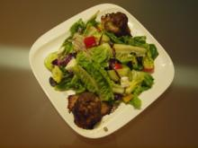 Salate: buntes Allerlei dazu Kugeln gefüllt mit Schafskäse - Rezept