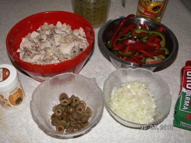 Curry-Reis mit Hähnchen und Paprika - Rezept - Bild Nr. 4