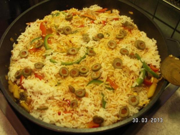 Curry-Reis mit Hähnchen und Paprika - Rezept - Bild Nr. 9