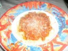 Spaghetti in scharfer Tomaten-Paprika Soße - Rezept