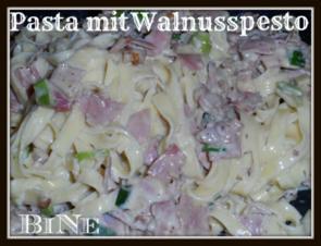 BiNe` S PASTA MIT WALNUSSPESTO - Rezept