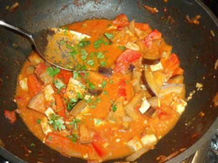 Auberginen-Tofu-Thai-Curry; vegetarisch, asiatisch - Rezept