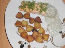 Lachsfilet mit Kräuterdip - Rezept