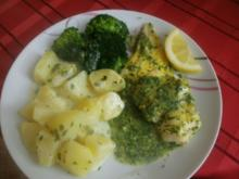 Gedünstetes Kabeljaufilet mit Broccoli und Sahnekartoffeln - Rezept
