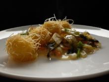 Explodierte Kartoffelbällchen mit Fenchelgemüse - Rezept