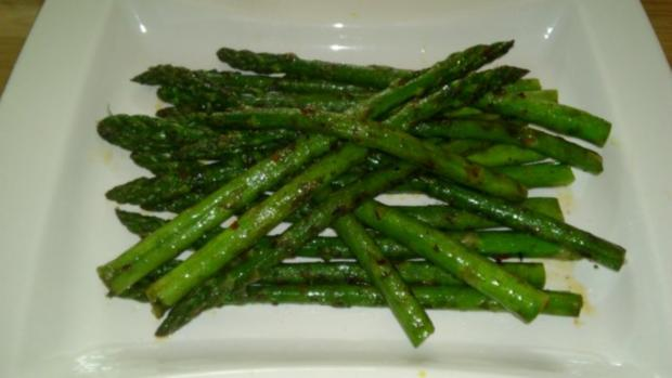 Marinierter grüner Spargel - Rezept