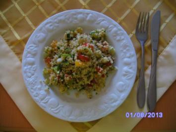 Rezept: CousCous Salat mit Sojasauce