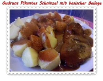 Fleisch: Pikantes Schnitzel mit asiatischer Tomatensoße - Rezept