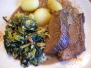 Rinderbraten vom Galloway  in Rotwein - Rezept