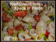 BiNe` S NUDELSALAT MIT SPECK & PESTO - Rezept