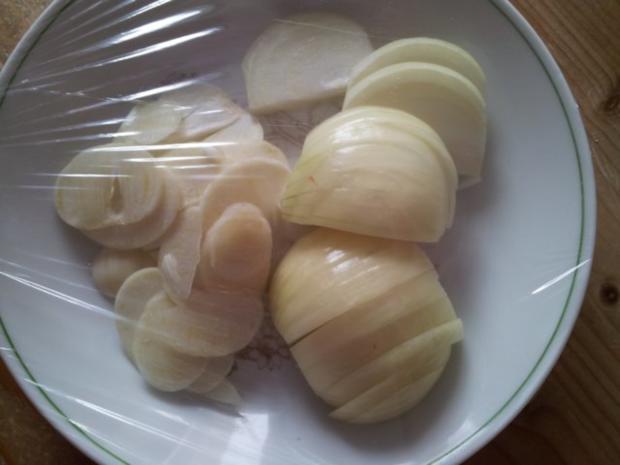 Gebratenen Auberginen mit Paprika - Rezept - Bild Nr. 3