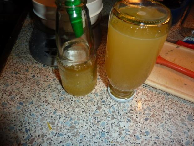 Diät-Saft und Zitronensirup