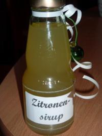 Rezept: Getränk: Zitronensirup