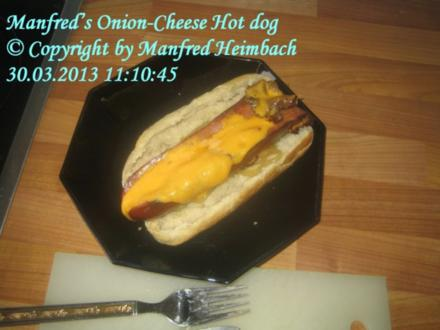 Fingerfood – Manfred's Onion-Cheese Hot dog - Rezept