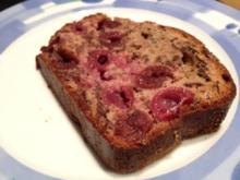 Kirsch Schoko Kuchen (ohne Fett, ohne Zucker) - Rezept