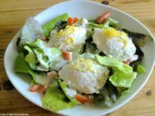 Räucherforellen-Mousse auf Salat - Rezept