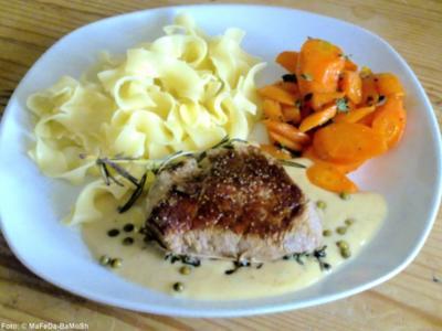 Filet-Steaks mit Pfefferrahm-Sauce - Rezept
