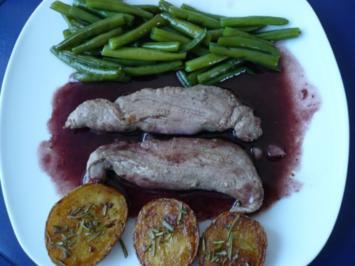 Lammfilet mit Rotwein-Buttersoße - Rezept