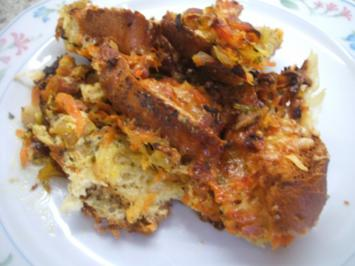 Rezept: Auflauf: Brotauflauf mit Karotten